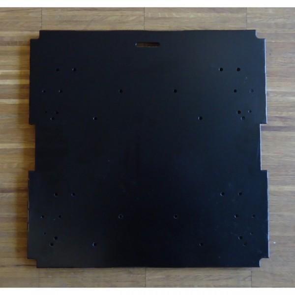Viasit Montageseite System 4 schwarz für Schubladen 15282