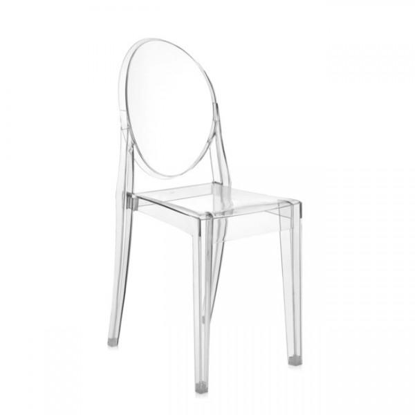 Kartell Stühle im 4er Set Victoria Ghost glasklar 4856