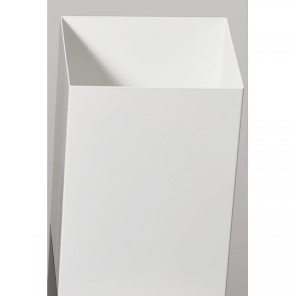 Papierkorb Square weiß 2008.W