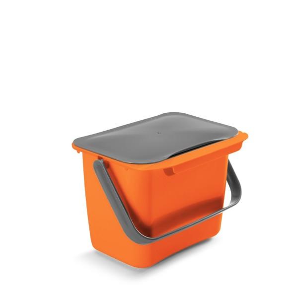 Metaltex Abfallsammler Bin-Tex mit Deckel orange 297528001