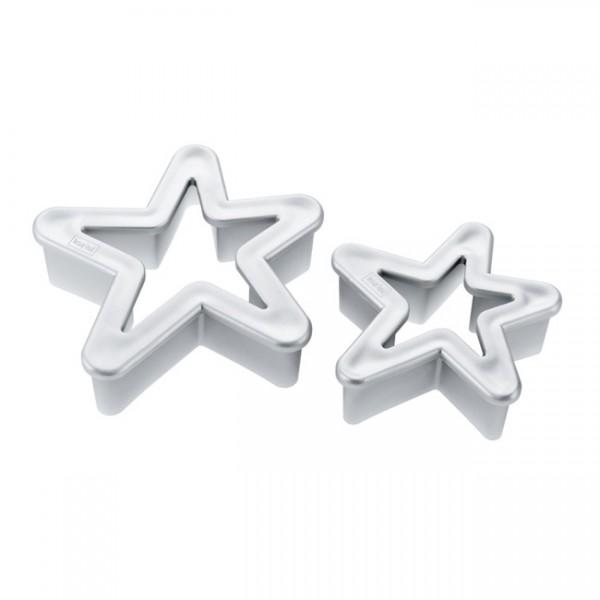 Ausstechform Sterne 2er Set silber 3209013