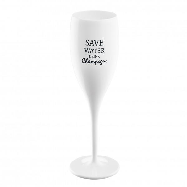 Koziol Sektglas Cheers No.1 SAVE WATER DRINK CHAMPAGNE 100ml weiß 3436525