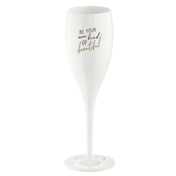 Koziol Sektglas Cheers No.1 MIT HUMOR 100ml weiß 3922525