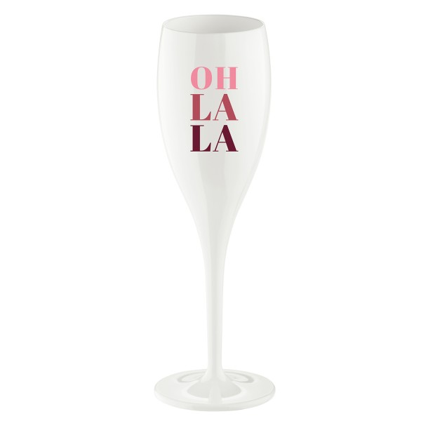 Koziol Sektglas Cheers No.1 OH LA LA 100ml weiß 3920525