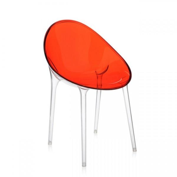 Kartell Schalensessel Mr. Impossible rot orange 584044