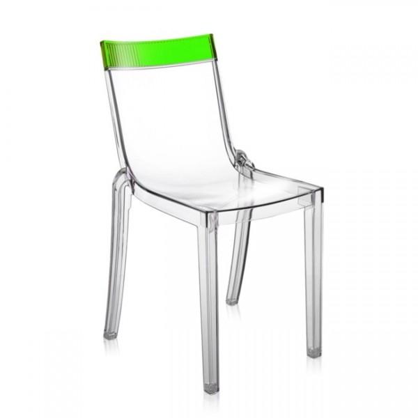 Kartell Stuhl Hi-Cut transparent grün 5850B7