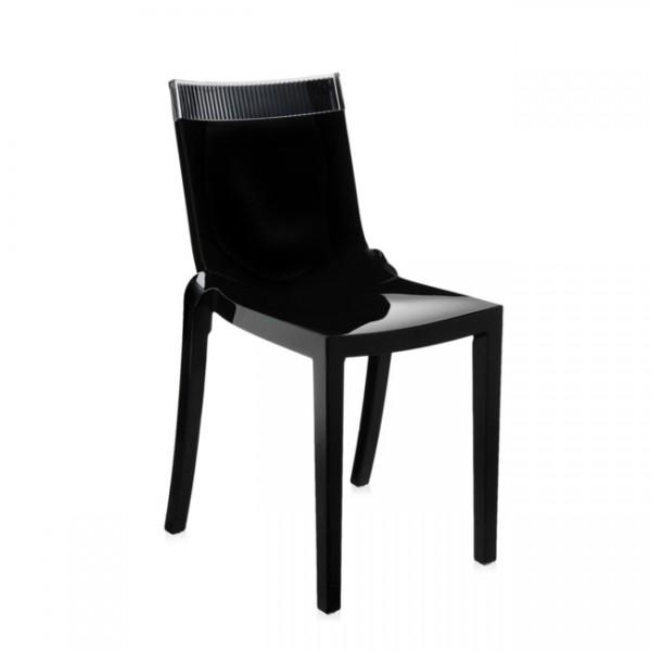 Kartell Stuhl Hi-Cut schwarz glasklar 5850N4