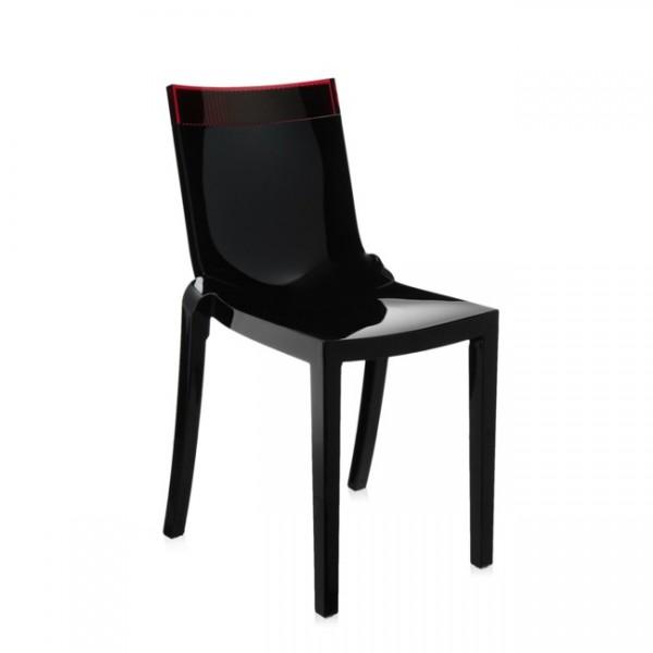Kartell Stuhl Hi-Cut schwarz rot 5850N6