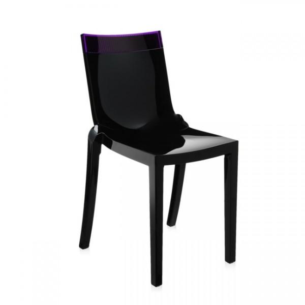 Kartell Stuhl Hi-Cut schwarz violett 5850N8