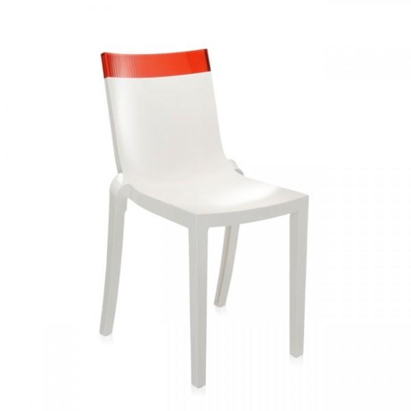 Kartell Stuhl Hi-Cut weiß rot 5850W6