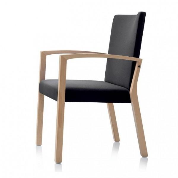 Wiesner Hager S13 Sessel 6720-113 Buche/Komfortpolster