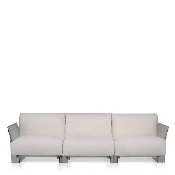 Kartell Pop Outdoor Sofa 3-Sitzer Sunbrella ecru 704321