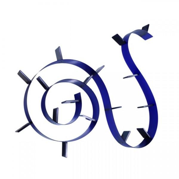 Regal Bookworm 17 Buchstützen kobaltblau 8008C4