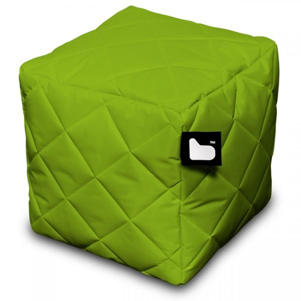 Sitzwürfel gesteppt Indoor u. Outdoor grün 95006