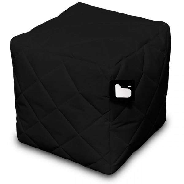 Sitzwürfel gesteppt Indoor u. Outdoor schwarz 95009