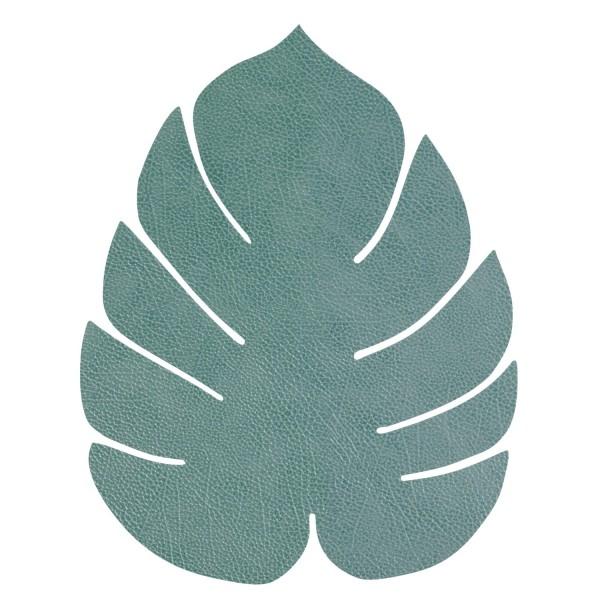 Lind DNA Tischset Monstera Leaf L 37x44cm Hippo pastellgrün 989949
