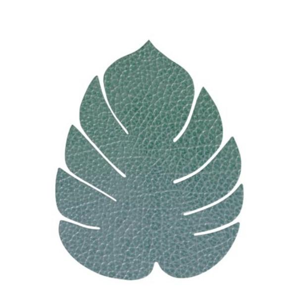 Lind DNA Glasuntersetzer Monstera Leaf 11x13cm Hippo pastellgrün 989961