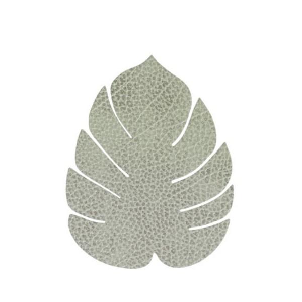 Lind DNA Glasuntersetzer Monstera Leaf 11x13cm Hippo olivegrün 989962
