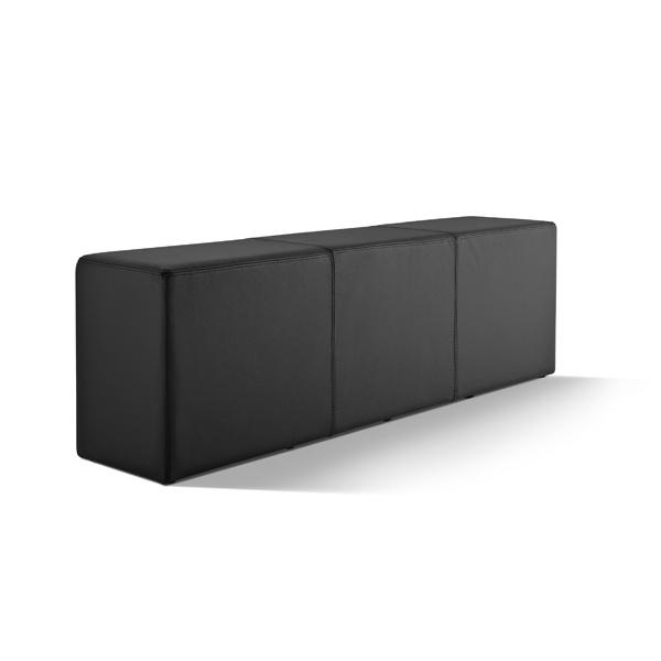 Bank Pomp Leder schwarz B20052