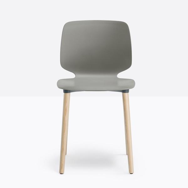 Pedrali Babila Stuhl 2750 mit grauer Sitzschale