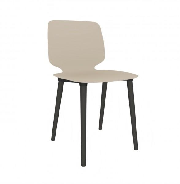 Pedrali Babila Stuhl 2750 mit beiger Sitzschale