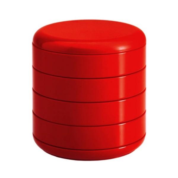 Rexite Behälter mit Drehfächern Multiplor rot 900.00.02