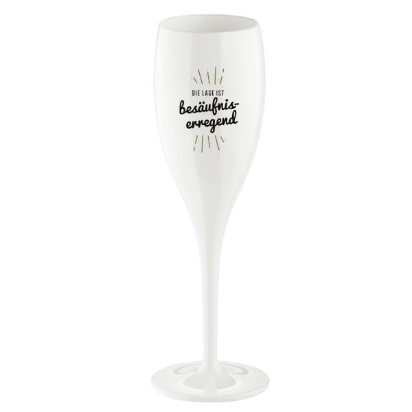 Koziol Sektglas Cheers No.1 DIE LAGE IST.. 100ml weiß 4045525