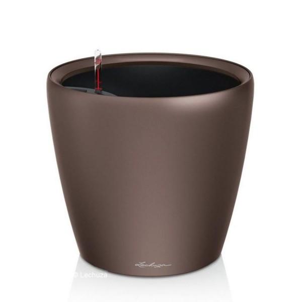 Lechuza Pflanztopf Classico LS 43 espresso metallic 16081