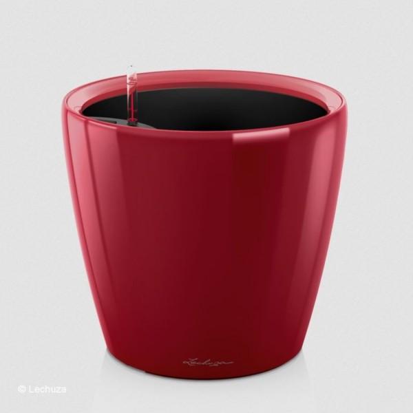 Lechuza Pflanztopf Classico LS 28 scarlet rot hochglanz 16047