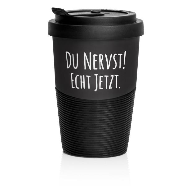 """PECHKEKS® Coffee-to-go Becher """"Du nervst"""" schwarz 2501003"""