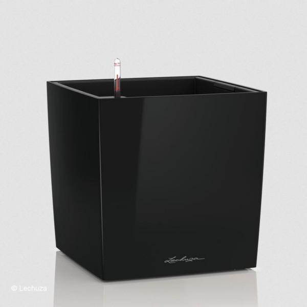 Lechuza Pflanztrog Cube 50 schwarz hochglanz 16569
