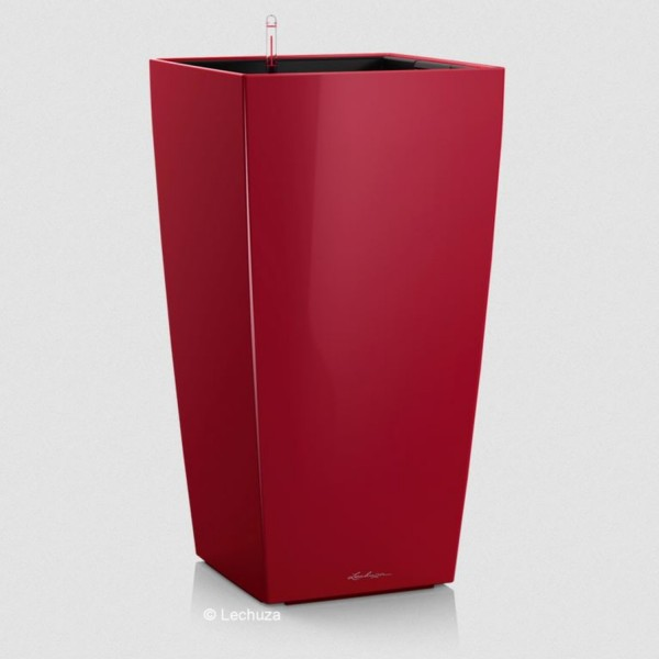 Lechuza Pflanzsäule Cubico 30 scarlet rot hochglanz 18183