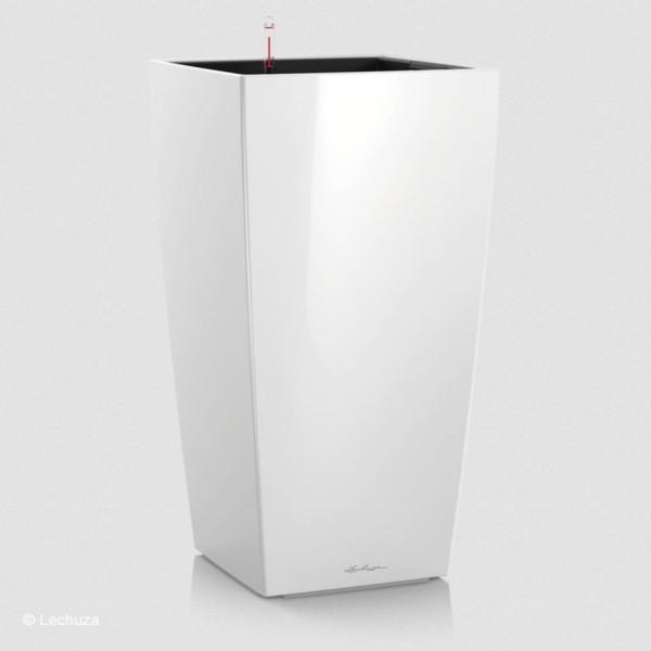 Lechuza Pflanzsäule Cubico 40 weiß hochglanz 18191