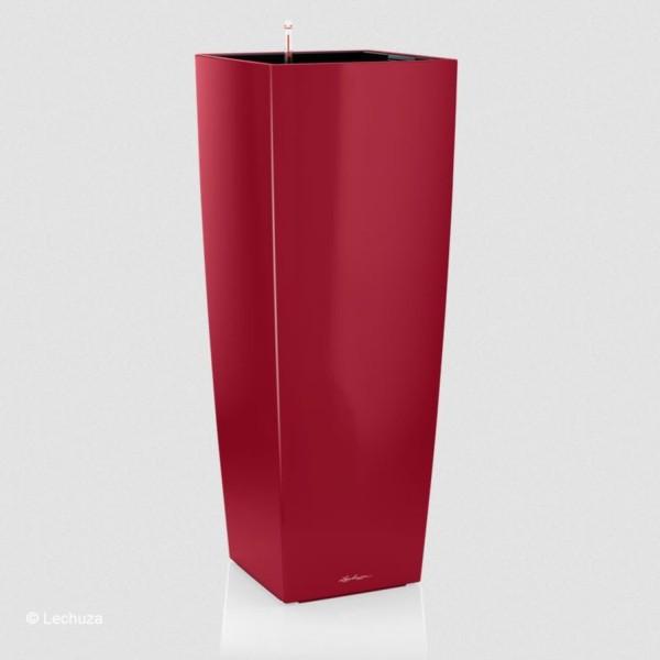 Lechuza Pflanzsäule Cubico Alto scarlet rot hochglanz 18249