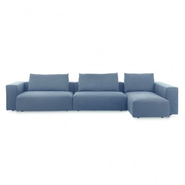 Elementsystem Domino Sofa lederbezogen