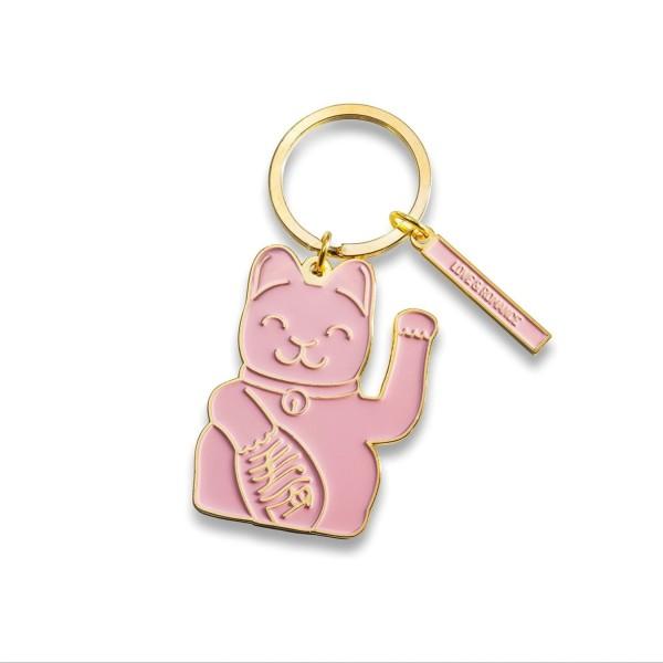 Donkey Products Schlüsselanhänger Maneki Neko Pink 400932