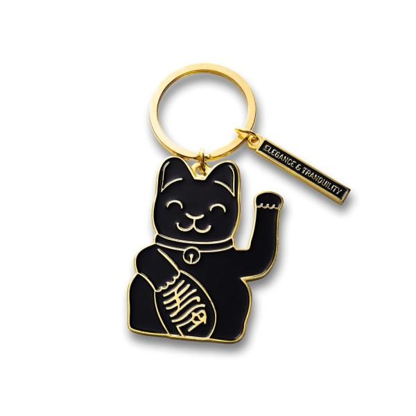 Donkey Products Schlüsselanhänger Maneki Neko Black 400935