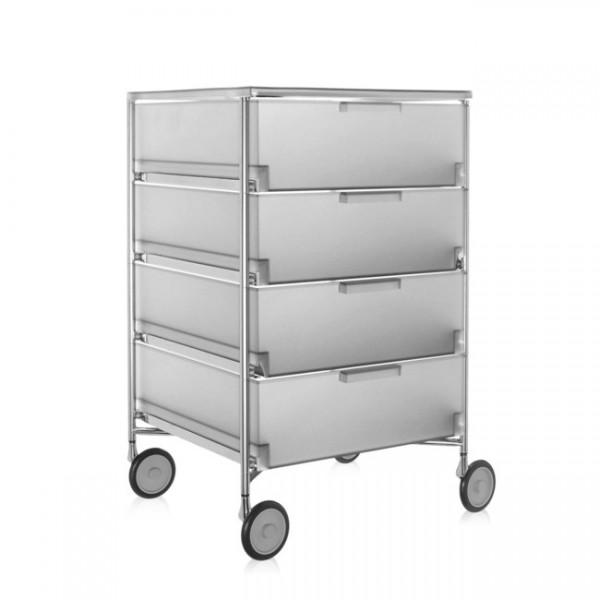 Kartell Mobil Container 4 Schübe mit Rollen eisfarben 2024L1