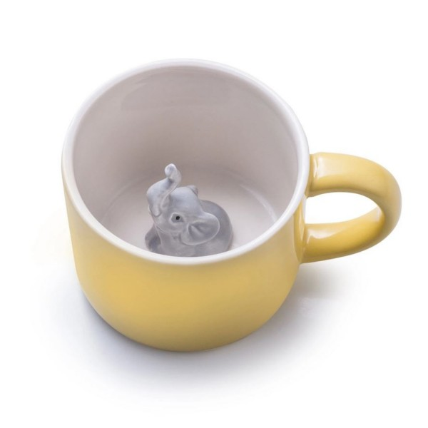 Donkey Products Tasse Emma mit Elefant gelb 210340