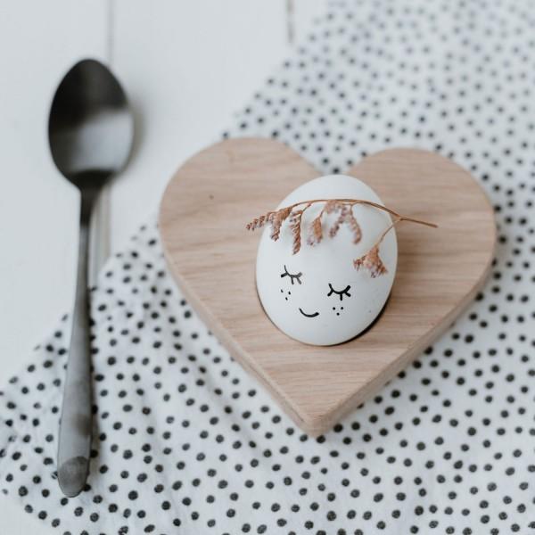 Eulenschnitt Eierbecher Eierhalter Herz Heart