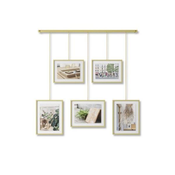 Umbra Bilder-Display Exhibit 5er-Set messing 1013426-221