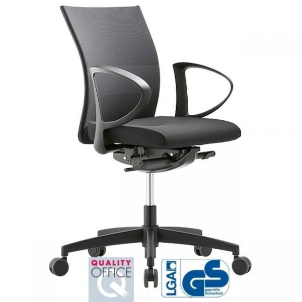 Bürodrehstuhl Extra mesh 4 mittelhohe Rückenlehne