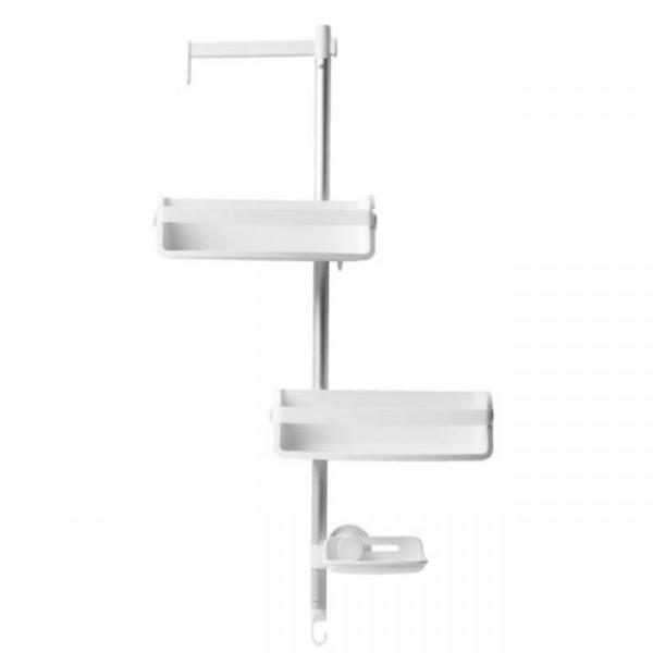 Duschablage Flipside XL Flex weiß/aluminium 1009493-1113