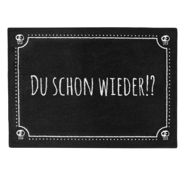 """PECHKEKS® Fussmatte """"Du schon wieder"""" rutschfest schwarz 3201011"""