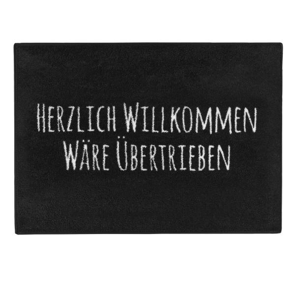 """PECHKEKS® Fussmatte """"Herzlich Willkommen"""" rutschfest schwarz 3201002"""