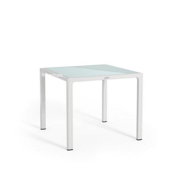 Lechuza Gartentisch klein / 90x90cm / weiß 10910