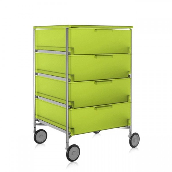 Container auf Rollen Mobil zitronengelb 2024L3