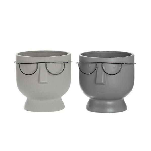 Keramik Gesichts-Pflanztopf Faccia 2er-Set 16cm 34328