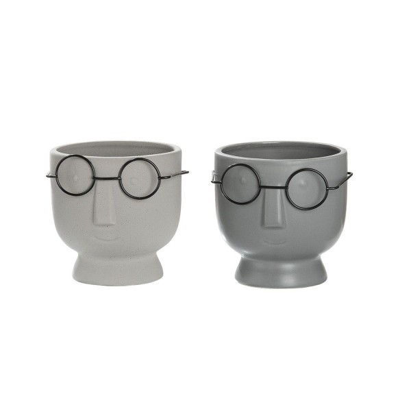 Keramik Gesichts-Pflanztopf Faccia 2er-Set 12cm 34327