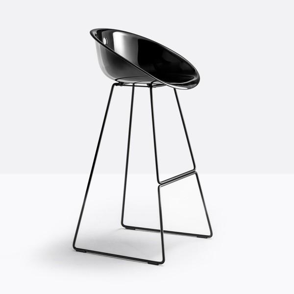 Pedrali Gliss 902 Barhocker mit schwarzer Sitzschale